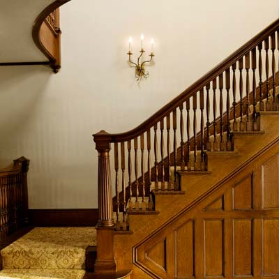 West Newton Shingle-Style grand staircase from best toh tv home remodels by kevin o'connor