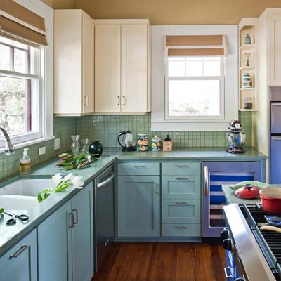 Austin Green Renovation colorful kitchen from best toh tv home remodels by kevin o'connor
