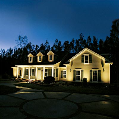 fetching facade example of exterior landscape lighting