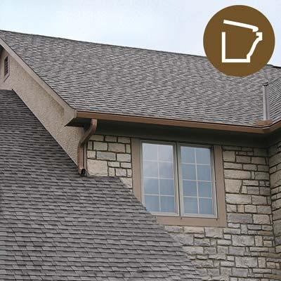 K-Guard aluminum leaf barrier on a house with stone veneer siding