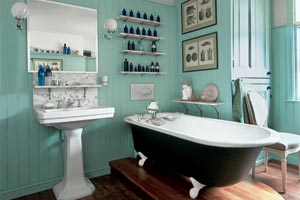 a turn-of-the-century vintage-style bathroom
