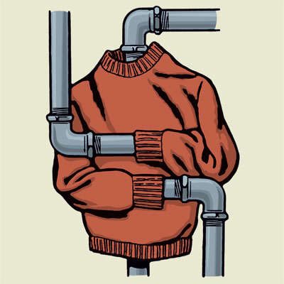 illustration of bathroom pipes