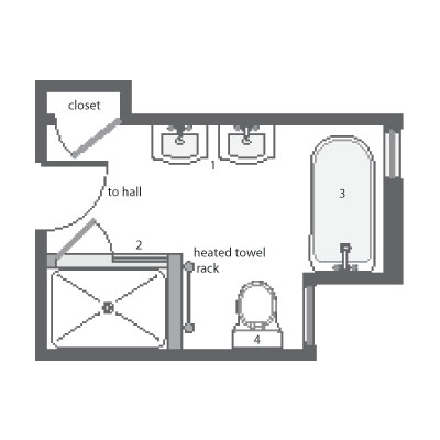 Mulligan master bath floor plan