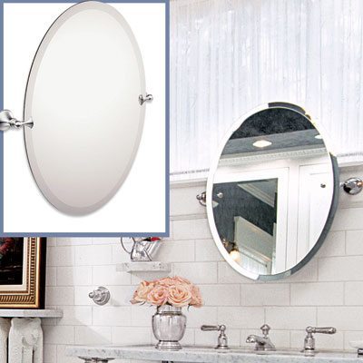 a frameless mirror to go in a Victorian-style bathroom