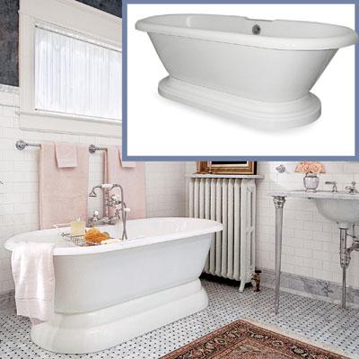 a pedestal bath tub for a Victorian-style bathroom