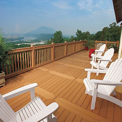 deck with accent boards plank pattern