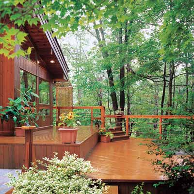 deck design for a sloped yard