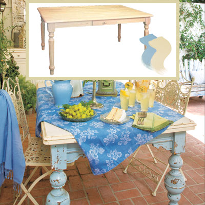 Outdoor patio dining room table