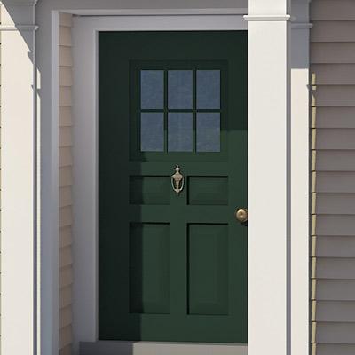 Exterior door of colonial home after photoshop redo