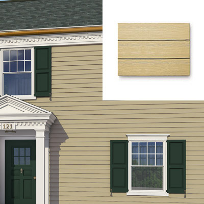 Siding along this colonial home after photoshop redo