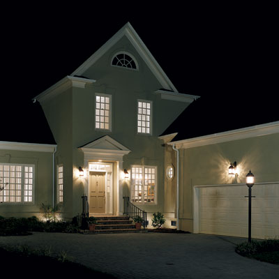 exterior lighting for a driveway