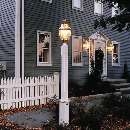 exterior lighting for a front walkway