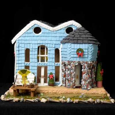 Riverfront Gingerbread House
