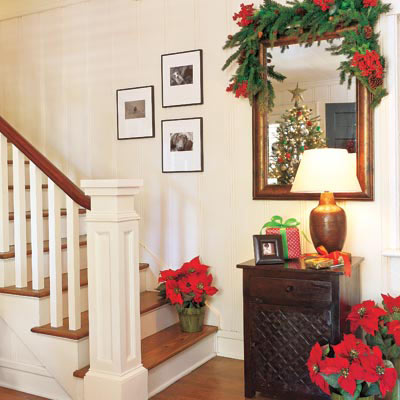 festive foyer for Christmas