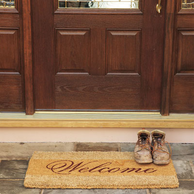 Front door coir welcome doormat