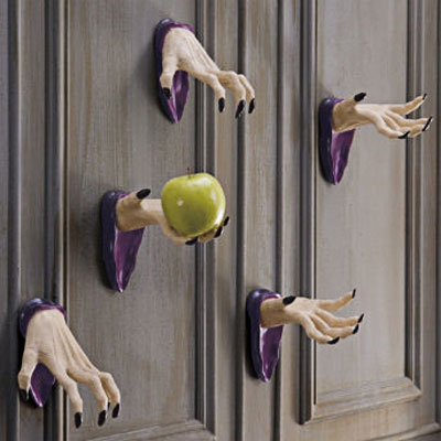 floating witch's hands for Halloween wall decoration