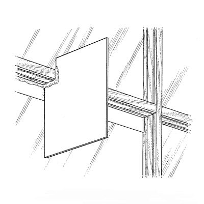 illustration of window muntin repair