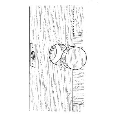 illustration of doorknob and lock replacement