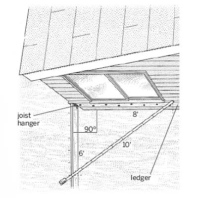 illustration of deck installation
