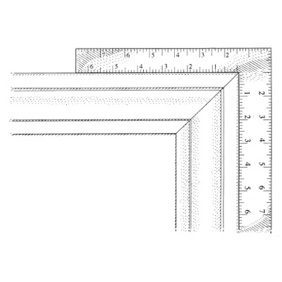 illustration of picture frame joint and ruler