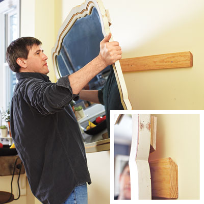 1 hang heavy stuff 25 diy fundamentals this old house How to hang a heavy picture frame without nails