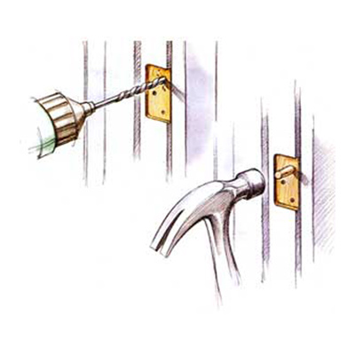 illustration of loose hinge fix