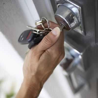 hand locking door