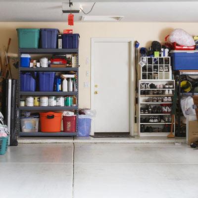 interior garage door leading to house