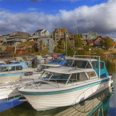 the marina in Old Town, Yellowknife, Northwest Territories, Canada