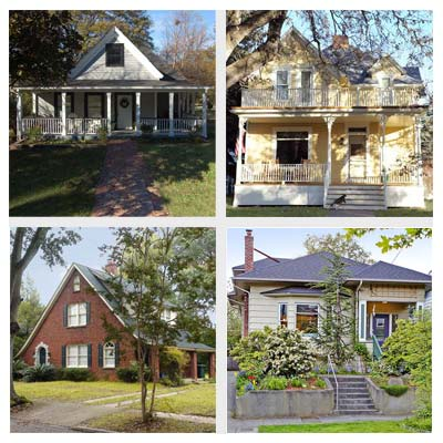 best old house neighborhoods for cottages and bungalows