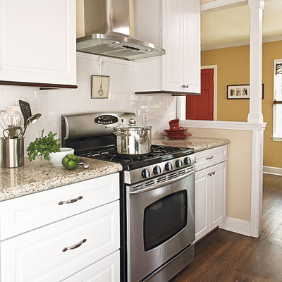 Kitchen and dining room of this bungalow after remodel