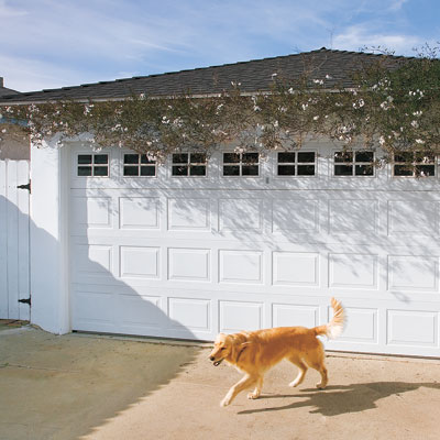 Garage of this bungalow after remodel