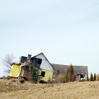house slid off foundation