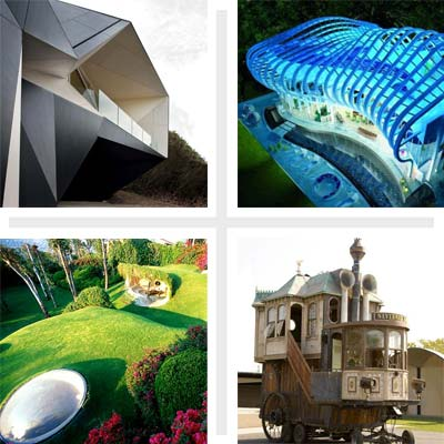 4 wild houses from the Klein Bottle House in Australia to Aura Villa in Cyprus to the Casa Organica in Mexico to the Neverwas Haul in California