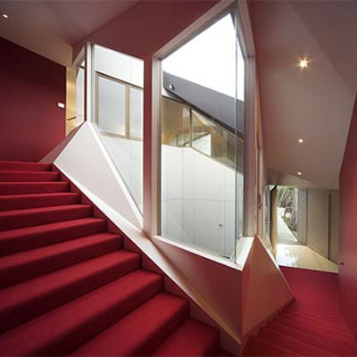 inside the Klein Bottle House in Rye, Australia