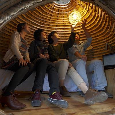 inside the Egg House in Beijing, China