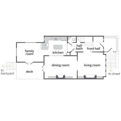Floor plan for the first floor