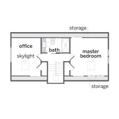Floor plan for the third floor