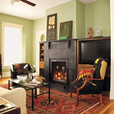 Folk victorian living room