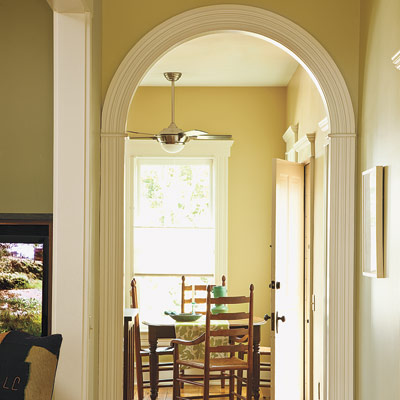 Folk victorian arched doorway