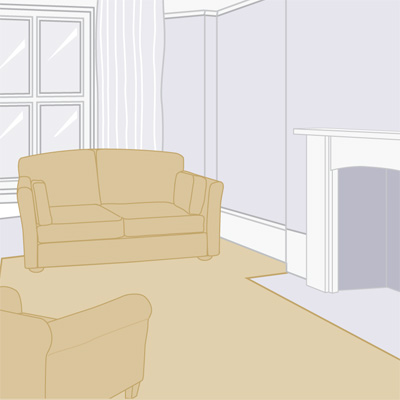 illustration of living room configuration