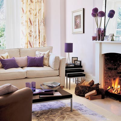 living room with softly sophisticated design