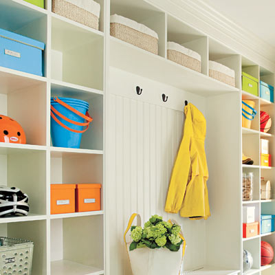 mudroom with open storage