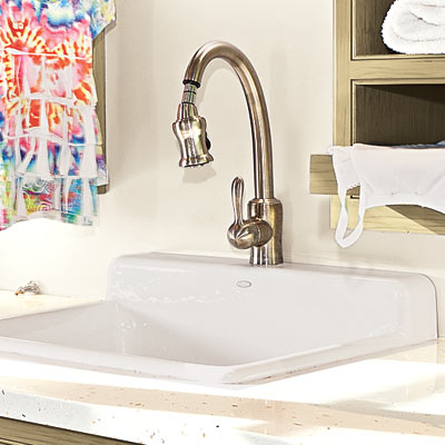 Pull-Down Faucets | 10 Hard-Working Rooms That Make Life Easier ...
