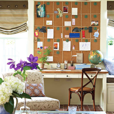 Corkboard Wall 27 Inspirational Homework Areas And Study