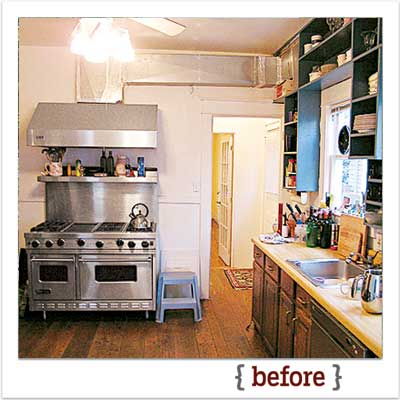 the newly remolded period look kitchen before the remodel