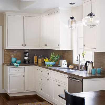 small eat-in kitchen after beautiful remodel