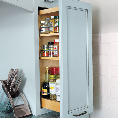 Nicolussi kitchen pullout cabinet space