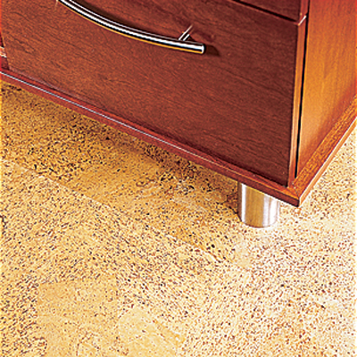 Cork floors in the kitchen
