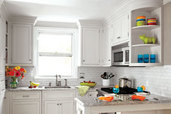 a small kitchen remodeled to create more space